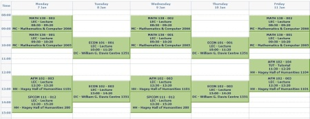 Winter2013schedule